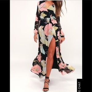 Wonderous Water Lilies Floral Print Maxi